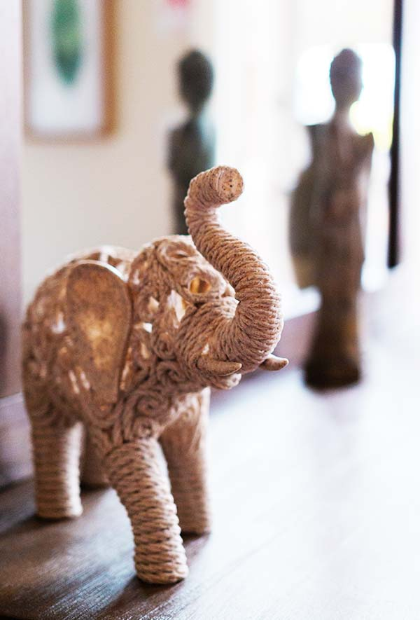 Elephant statue detail